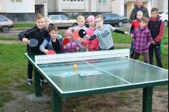 18 луцьких дворів отримають тенісні столи